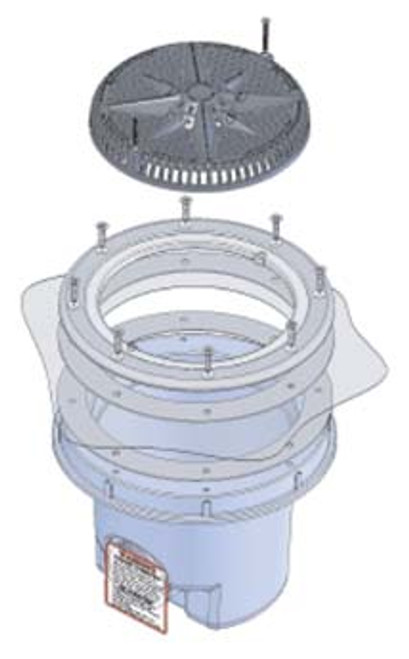 Includes flange to secure liner to drain base