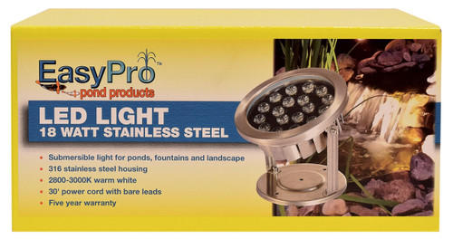 EasyPro LED Stainless Steel Fixture - Warm White - 18 Watt (FREE SHIPPING)