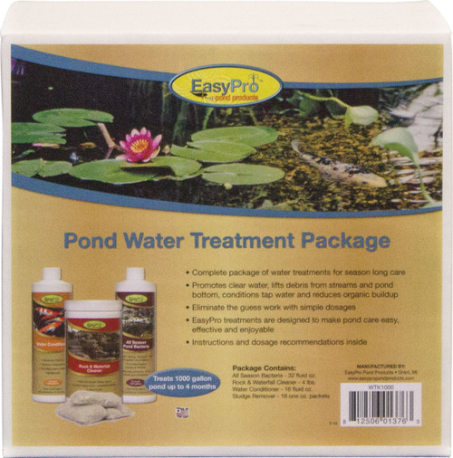EasyPro Pond Water Treatment kit - Treats 1000 gallon ponds