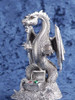 FA73, Treasure Dragon by Perth Pewter, Free Shipping, MSRP ($85.00), FA-Series Large Fantasy Pewter Figurine