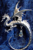 S263, Small Hanging Dragon by Perth Pewter, Free Shipping, MSRP ($40.00), S-Series Large Fantasy Pewter Figurine