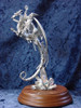 S248, Dragon W/ Wizard Rider by Perth Pewter, Free Shipping, MSRP ($125.00), S-Series Large Fantasy Pewter Figurine