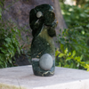 Shona Stone Sculpture Hand-carved Floral Seed in Green Opal Stone  by Zawadee, Free Shipping, MSRP ($259.00)