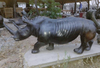 Shona Stone Sculpture Rhinoceros by Zawadee, Free Shipping, MSRP ($2,546.00)