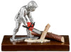 Firefighter with chainsaw by Les Estain Du Prince, Free Shipping, MSRP(163.21)