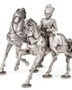 Pair of horses with rider by Les Estain Du Prince, Free Shipping, MSRP(528.26)