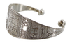 DASSIN, Silver Cuff Bracelet Intricately Etched by The Azel Collection Free Shipping, MSRP($176.99)