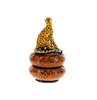 Cheetah Round Box by The Ardmore Collection, Free Shipping, MSRP($427.00)