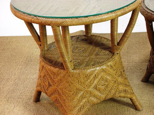 931962, Timberlake, by Lane Venture, Free Shipping, MSRP ($1,112.50), outdoor natural wicker side table with glass top