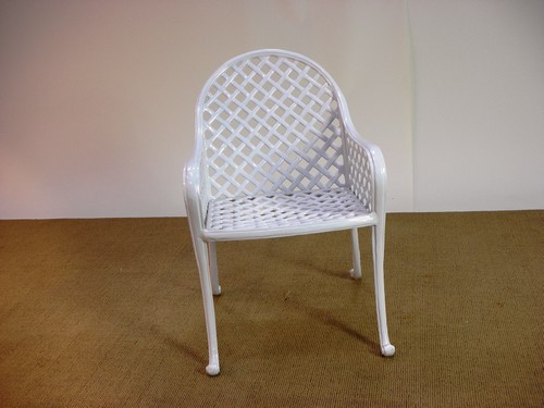 102010-055, Bella Vista Outdoor cast aluminum garden arm chair, by Woodard Landgrave, Free Shipping, MSRP ($840.00)