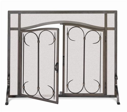18428, Arch top doors, by Pilgrim Home And Hearth, Free Shipping, MSRP ($429.00), solid angle iron steel fireplace screen