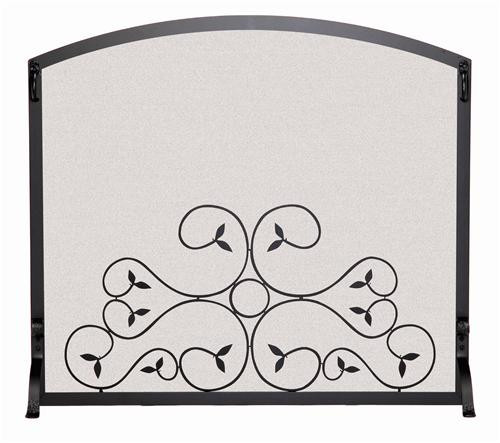 18277, Single panel fireplace screen, by Pilgrim Home And Hearth, Free Shipping, MSRP ($339.00) matte black finish