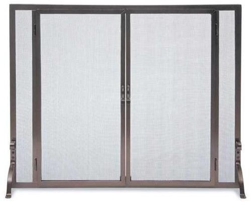 FGND, Solid Iron Steel Screen, by Pilgrim Home And Hearth, Free Shipping, MSRP ($379.00), Full Height Operable Doors