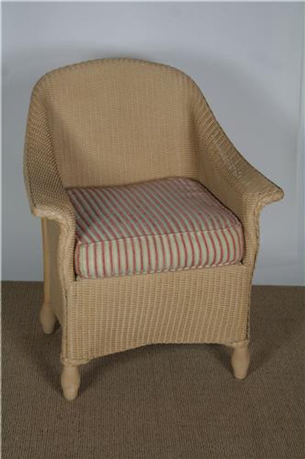 25001, Embassy, by Lloyd Flanders, Free Shipping, MSRP ($1,027.00), wicker dining chair with cushions