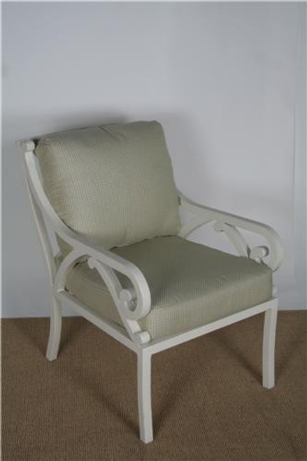 3210-2000, Empire, by Brown Jordan, Free Shipping, MSRP ($2,040.00), cast aluminum dining arm chair w/ cushions, Strand finish