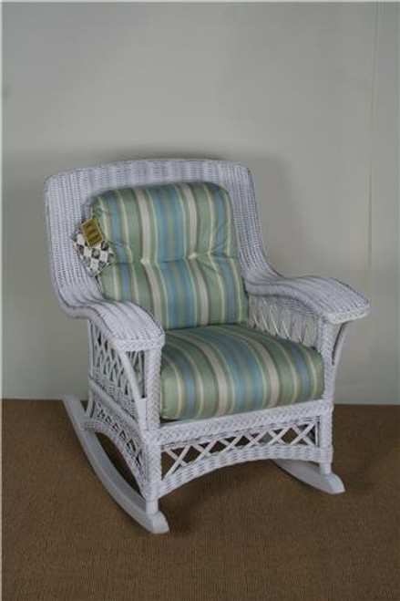 312-47, Chandler Bay, by Lane Venture, Free Shipping, MSRP ($1,953.00), natural wicker rocker with cushions