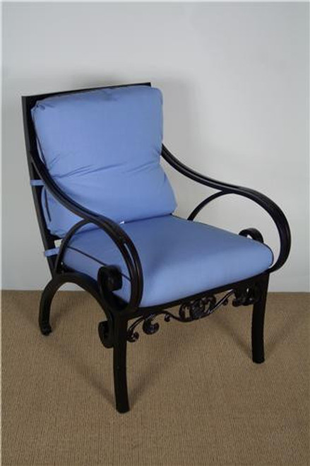 3300-2000, Grand Via, by Brown Jordan, Free Shipping, MSRP ($2,060.00), aluminum dining arm chair with cushions