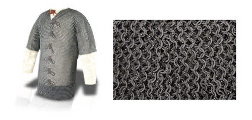 """AB2508, Chainmail Haubergeon by Get Dressed For Battle (GDFB), Free Shipping, MSRP ($559.00), Earl Grade 60"""" Chest - Code 4"""
