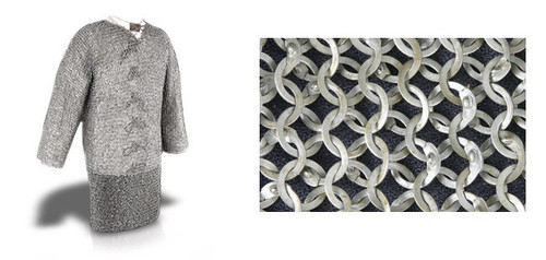 """AB2528, Chainmail Hauberk by Get Dressed For Battle (GDFB), Free Shipping, MSRP ($809.00),Count Grade 60"""" Chest- Code 2"""