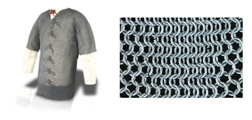 """AB2518, Chest Chainmail Haubergeon by SAY, Free Shipping, MSRP ($209.00), Page Grade 60""""  - Code 10"""