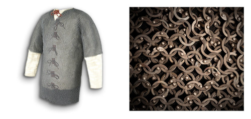 AB2480, Chest 48 Titanium Chainmail Haubergeon by Get Dressed For Battle (GDFB), Free Shipping, MSRP ($2,349.00), Code Ti