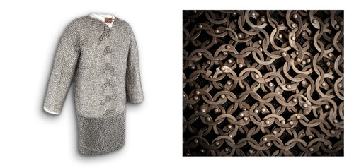 """AB2546, Titanium Chainmail Hauberk by Get Dressed For Battle (GDFB), Free Shipping, MSRP ($3,299.00), Chest 60""""  Code Ti"""