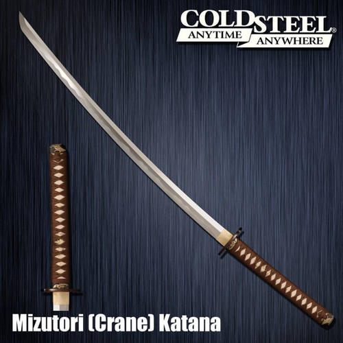 CS88CKK, Damascus Mizutori Crane Katana by Cold Steel Inc., Free Shipping MSRP ($769.95)