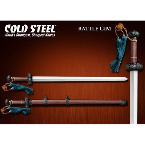 CS88FG, Battle Gim Sword by Cold Steel Inc., Free Shipping, MSRP ($799.95), Damascus Steel