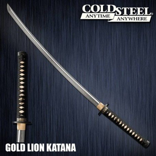 CS88ABK, Golden Lion Katana by Cold Steel Inc., Free Shipping, MSRP ($899.95), Damascus Steel