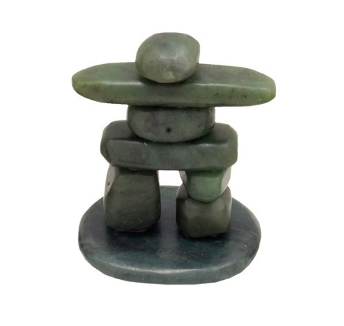 JNKM, Tumbled Jade - Inukshuk by Nature's Expression, Free Shipping, MSRP ($48.00), on Base - 2.5
