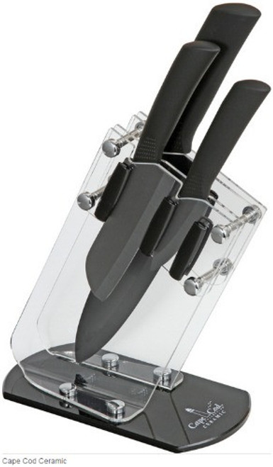 TM8119, Cape Cod Ceramic 3 Pieces Cutlery Set by Timberline Knives, Free Shipping, MSRP ($124.95)
