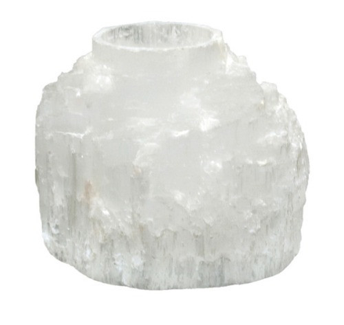 TLSE, Selenite Mountain Candle Holder by Nature's Expression, Free Shipping, MSRP ($30.00)