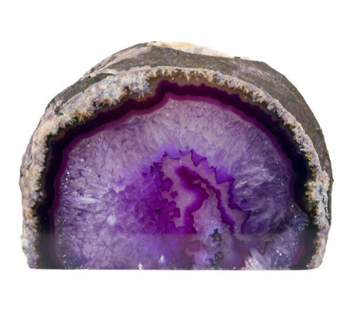 TLAP, Agate Geode Purple Candle Holder by Nature's Expression, Free Shipping, MSRP ($36.00)