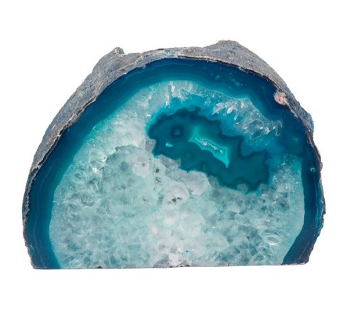 TLAT, Agate Geode Teal Candle Holder by Nature's Expression, Free Shipping, MSRP ($36.00)