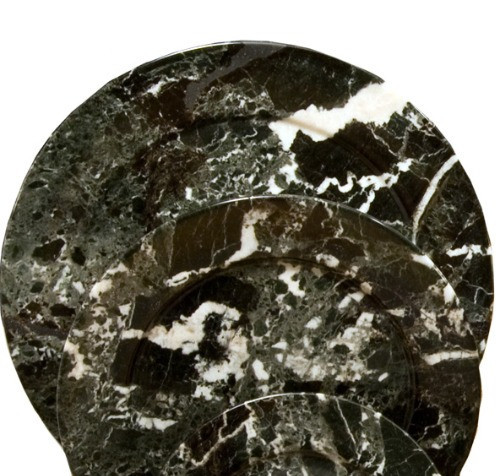 PBZL, Black Zebra Marble 10 Plates by Nature's Expression, Free Shipping, MSRP ($60.00)
