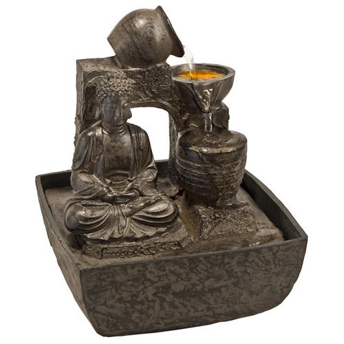 FTBS, Meditation Buddha Light Fountain by Nature's Expression, Free Shipping, MSRP ($72.00)