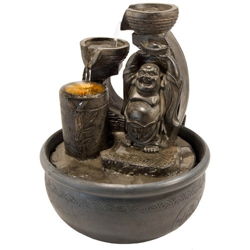 FTHB, Happy Buddha Light Fountain by Nature's Expression, Free Shipping, MSRP ($72.00)