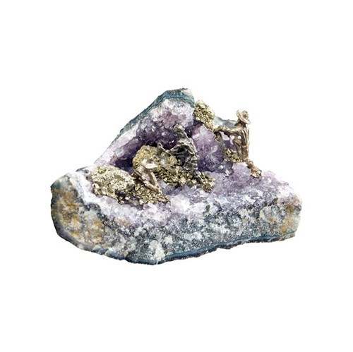 A203, Miners On Amethyst 2 - 4 Miners by Nature's Expression, Free Shipping, MSRP ($39.00)