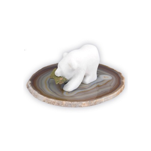 SBA, Spirit Bear On Agate by Nature's Expression, Free Shipping, MSRP ($42.00)