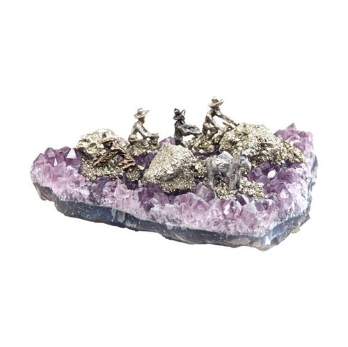 A204, Miners On Amethyst 3 - 5 Miners by Nature's Expression, Free Shipping, MSRP ($51.00)