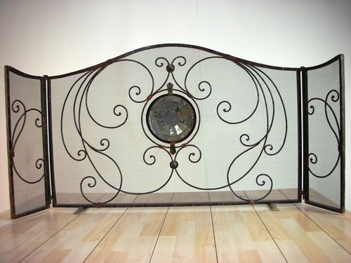"""3 panel moon"", by Jan Barboglio, Free Shipping, MSRP ($1,885.00), folding fireplace screen"