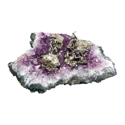 A205L, Miners On Amethyst Large 2-4 Miners by Nature's Expression, Free Shipping, MSRP ($147.00)