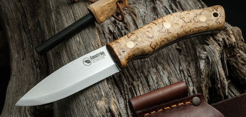 KS13124, Scandi/Curly Birch/Firesteel by Casstrom Sweden, Free Shipping, MSRP ($229.95), No.10 SFK - K720