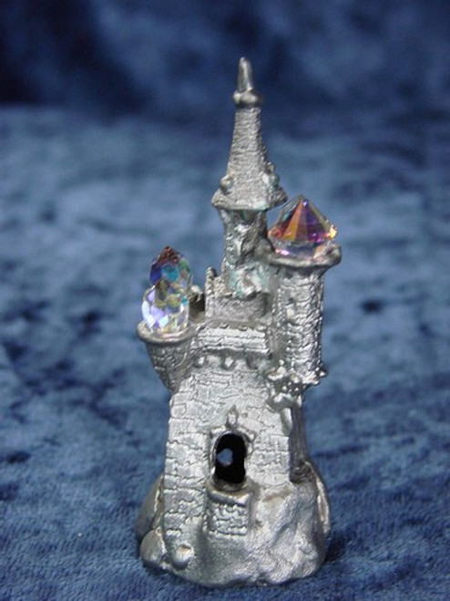 S281, Castle With Crystals by Perth Pewter, Free Shipping, MSRP ($28.00), S-Series Large Fantasy Pewter Figurine