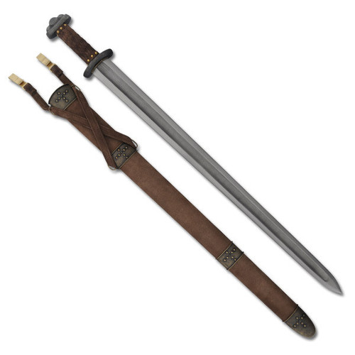 SH1010, Godfred Viking Sword by Hanwei Forge, Free Shipping, MSRP ($700.00), Hand Forged Patterned Folded Steel Blade