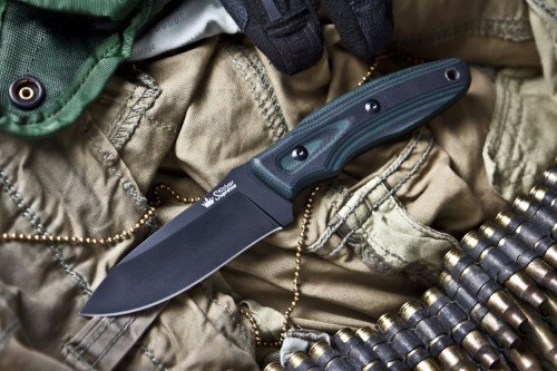 KK0228, Urban AUS 8  with Black Titanium by Kizlyar Supreme Knives, Free Shipping, MSRP ($122.00)