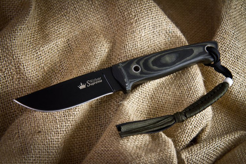 KK0039, Nikki D2 with Black Titanium Finish by Kizlyar Supreme Knives, Free Shipping, MSRP ($127.00)