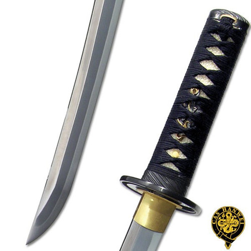 SH5002, Great Wave Wakizashi by Hanwei Forge, Free Shipping,  MSRP($740.00),  Fully Hand Forged, Clay Tempered