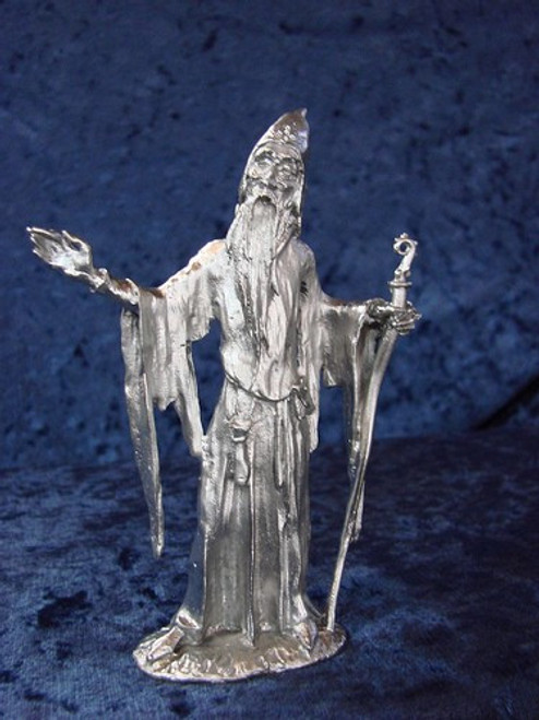 S217, Merlin by Perth Pewter, Free Shipping, MSRP ($65.00), S-Series Large Fantasy Pewter Figurine