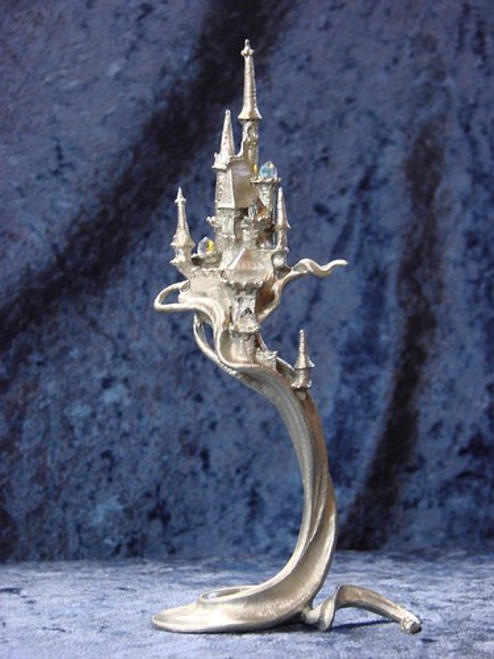 S279, Castle From The Magic Mist by Perth Pewter, Free Shipping, MSRP ($65.00), S-Series Large Fantasy Pewter Figurine